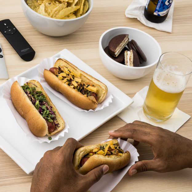Korean-Style Hot Dogs and Bibigo Go-Chu-Jang Mayo Sauce Image