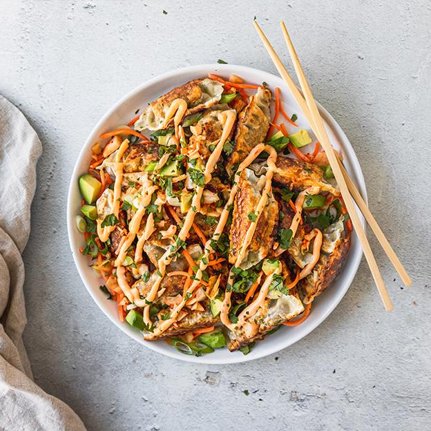 Loaded Mandu with Spicy Mayo image