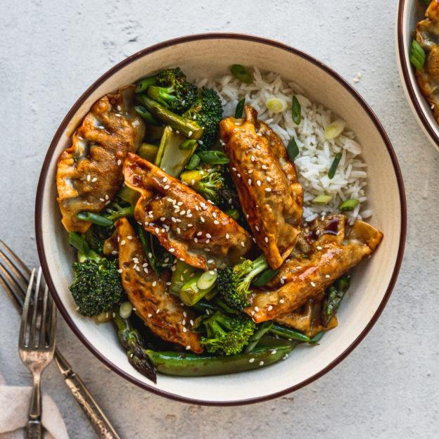 Green Vegetable and Mandu Stir-Fry