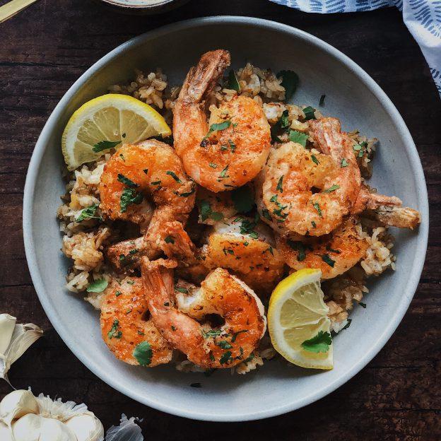 Honey Butter Shrimp & Garlic Fried Rice