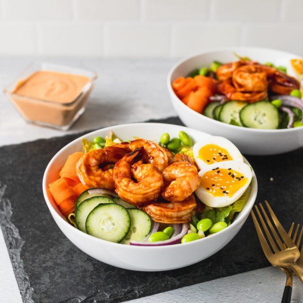 Spicy Go-Chu-Jang BBQ Shrimp Salad