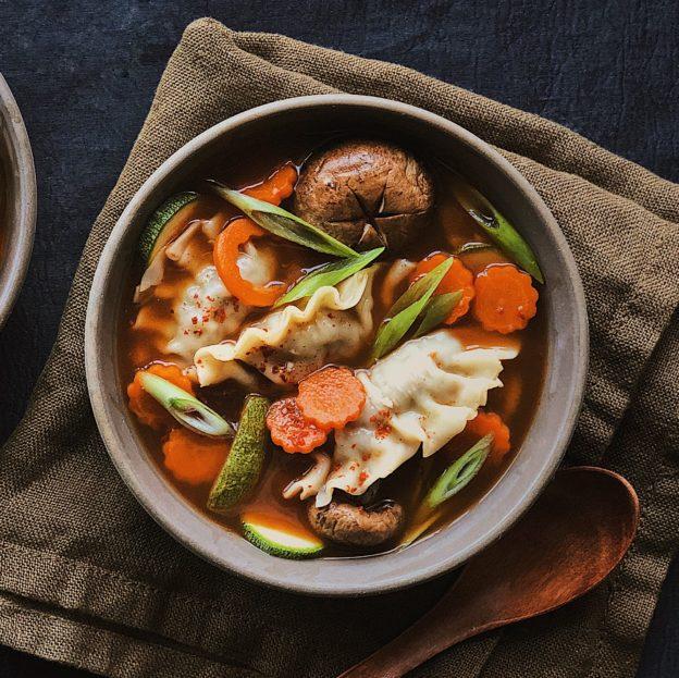 Spicy Mandu & Vegetable Soup