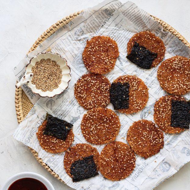 Crispy Go-Chu-Jang Rice Crackers