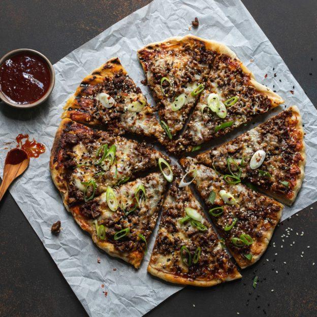 Spicy Bulgogi Grilled Pizza
