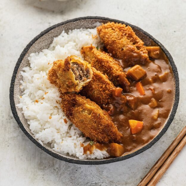 Mandu Katsu with Curry