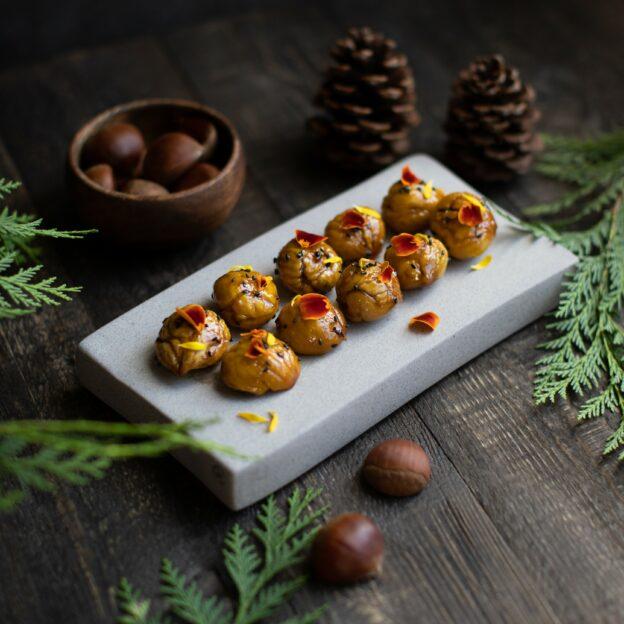 Sweet & Savory Maple-Glazed Chestnuts