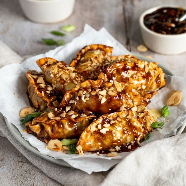 Soy Garlic Korean Fried Mandu